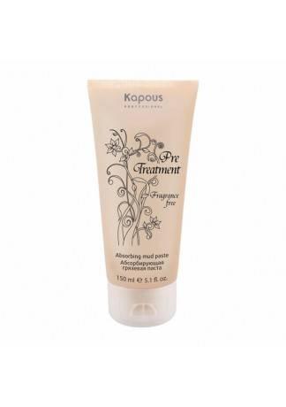 Kapous PreTreatment Абсорбирующая Грязевая Паста для Жирной Кожи Головы, 150 мл косметические маски spa pharma грязевая маска для нормальной и жирной кожи