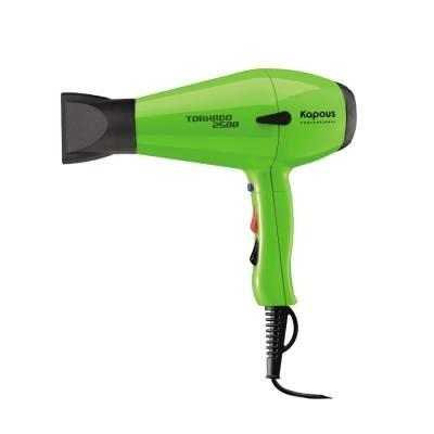 Kapous Фен Профессиональный для Укладки Волос Tornado 2500 Зеленый