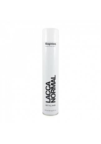 Kapous Лак Аэрозольный для Волос Нормальной Фиксации KAPOUS STYLING LACCA NORMAL, 500 мл