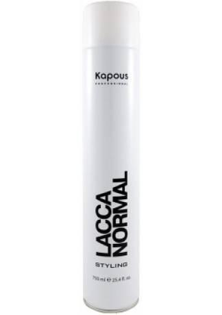 Kapous Лак Аэрозольный для Волос Нормальной Фиксации KAPOUS STYLING LACCA NORMAL, 750 мл