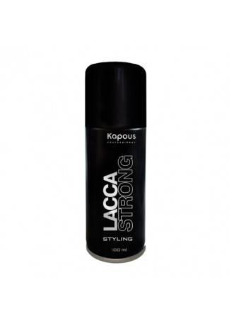 Kapous Лак Аэрозольный для Волос Сильной Фиксации KAPOUS STYLING LACCA STRONG, 100 мл kapous professional лак аэрозольный для волос нормальной фиксации 100 мл