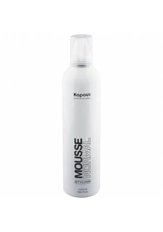 Kapous Мусс для Укладки Волос Нормальной Фиксации KAPOUS STYLING MOUSSE NORMAL, 400 мл kapous magic keratin мусс для укладки волос нормальной фиксации с кератином 150 мл
