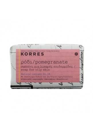 Korres Мыло для Лица для Жирной Кожи с Гранатом, 125г мыло с колд кремом авен