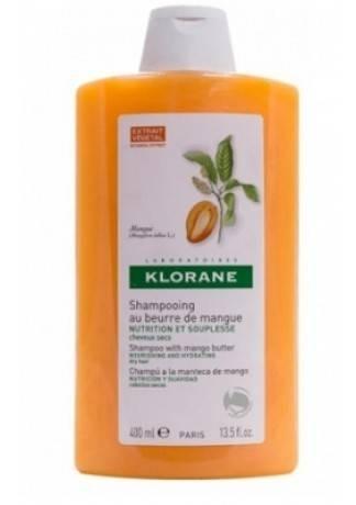 Klorane Шампунь с Маслом Манго для Сухих и Поврежденных Волос, 400 мл шампунь с маслом манго klorane увлажняющий и питательный 400 мл