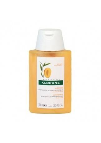 Klorane Шампунь с Маслом Манго для Сухих и Поврежденных Волос, 100 мл шампунь klorane с маслом манго для сухих и поврежденных волос 200 мл
