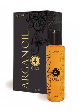 Kativa Концентрат Argan Oil Восстанавливающий Защитный для Волос 4 масла, 60 мл