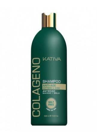 Kativa Коллагеновый Восстанавливающий Шампунь для Всех Типов Волос, 500 мл kativa коллагеновый восстанавливающий шампунь для всех типов волос 500 мл