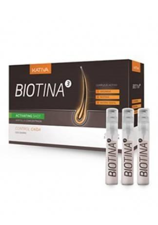 Kativa Концентрат Против Выпадения Волос в Ампулах Biotina, 3 ампулы*4 мл lakme средство концентрат интенсивного воздействия против выпадения волос