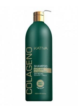 Kativa Коллагеновый Восстанавливающий Шампунь для Всех Типов Волос, 1000 мл kativa коллагеновый восстанавливающий шампунь для всех типов волос 500 мл