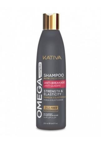 Kativa Антистрессовый Шампунь для Поврежденных Волос Omega Complex, 250 мл