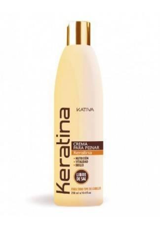 Kativa Кератиновый Укрепляющий Крем для Укладки для Всех Типов Волос, 250 мл