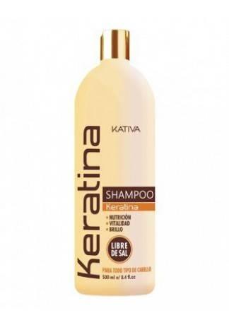 Kativa Кератиновый Укрепляющий Шампунь для Всех Типов Волоc, 500 мл kativa коллагеновый восстанавливающий шампунь для всех типов волос 500 мл