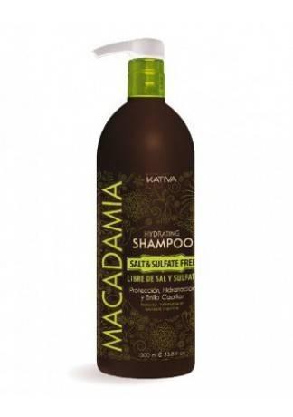 Kativa Увлажняющий Шампунь для Нормальных и Поврежденных Волос, 500 мл интенсивно увлажняющий кондиционер kativa для нормальных и поврежденных волос macadamia 1000мл
