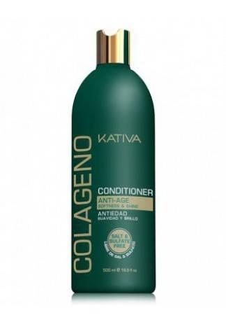 Kativa Коллагеновый Восстанавливающий Кондиционер для Всех Типов Волос Collageno, 500 мл kativa collageno conditioner кондиционер для волос восстанавливающий с коллагеном 500 мл
