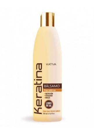 Kativa Кератиновый Укрепляющий Бальзам для Всех Типов Волос Keratina, 250 мл