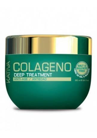 Kativa Уход Collageno Интенсивный Коллагеновый для Всех Типов Волос, 250 мл шампунь коллагеновый kativa