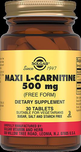 Solgar L-Карнитин L-KarnitinТаблетки 500 мг №30 l карнитин sport technology nutrition l carnitine guarana 0 5 л