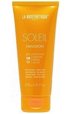 La Biosthetique Молочко Emulsion Solaire Anti-Age Spf 15 Водостойкое Солнцезащитное для Лица и Тела с Высокоэффективной Системой Фильтров, 200 мл цены
