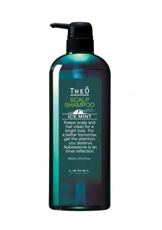 Lebel Cosmetics Шампунь Theo Scalp Shampoo Ice Mint, 600 мл