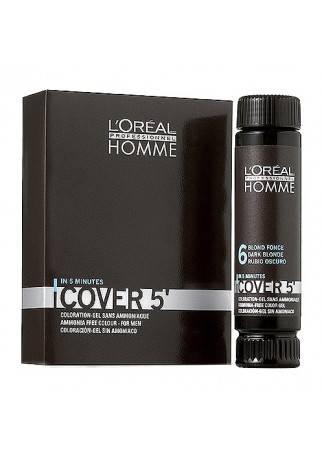 LOreal Professionnel Гель Homme Cover 5 Тонирующий Кавер №6, 50 мл