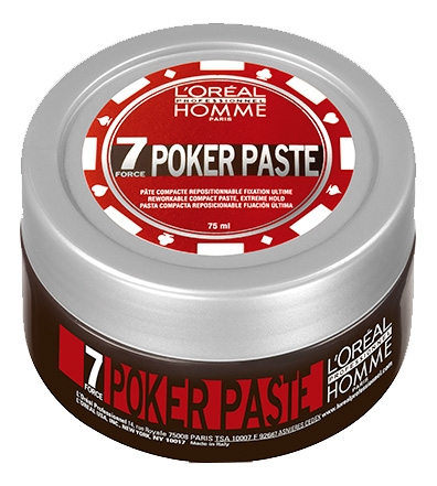 L'Oreal Professionnel Паста Homme Poker Paste Покер, 75 мл моделирующая паста insight styling elastic fibre paste средней фиксации 90 мл