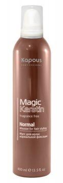Kapous Magic Keratin Мусс для Укладки Волос Нормальной Фиксации с Кератином, 400 мл цена