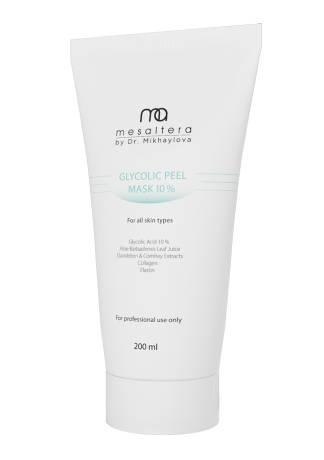 Mesaltera By Dr. Mikhaylova Маска Glycolic Peel Mask с Гликолевой Кислотой 10 %, 200 мл