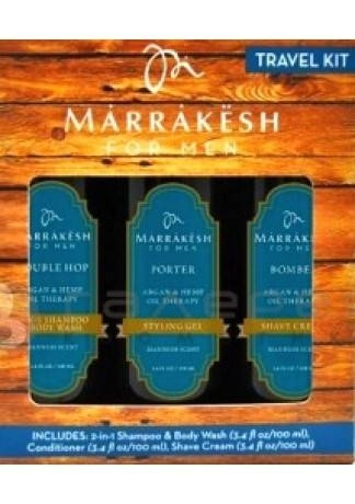 Marrakesh Набор для Мужчин Travel Kit, 3шт*100 мл канпо лубрикант для мужчин kofun возбуждающий 50мл презервативы sei original white классические 3шт черная упаковка