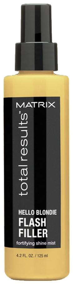 MATRIX Спрей-Вуаль для Светлых Волос Флэш Филлер Хеллоу Блонди, 125 мл matrix несмываемый спрей вуаль для сияния светлых волос total results hello blondie flash filler 125 мл