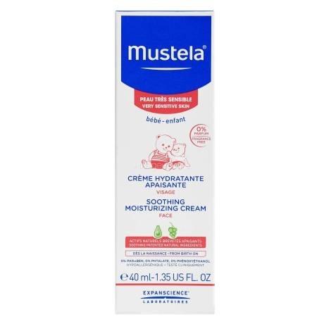 Mustela Крем для Лица Увлажняющий Успокаивающий, 40 мл mustela крем быстрого действия комфорт для ног 125 мл