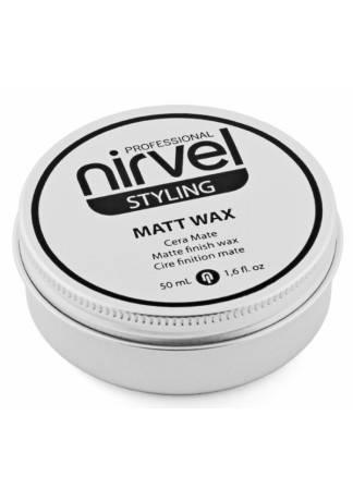 Nirvel Professional Матирующий Воск для Завершения Укладки Волос MATT WAX, 50 мл воск с матовым эффектом для укладки волос isoft matt clay wax 100 мл