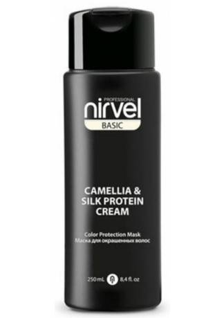 Nirvel Professional Маска-Блеск  Mask-Shine Color Protection Camellia & Silk Protein для Окрашенных Волос, 250 мл