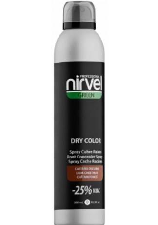 Nirvel Professional Тонирующий Спрей для Волос Темно-Коричневый DRY COLOR DARK BROWN, 300 мл все цены