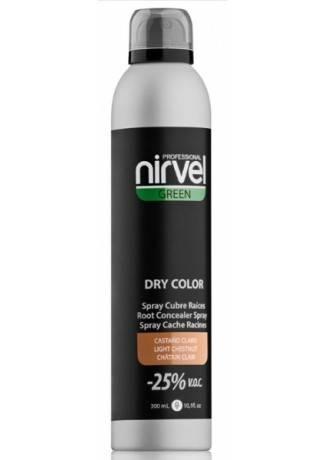 цена Nirvel Professional Тонирующий Спрей для Волос Светло-Коричневый DRY COLOR LIGHT BROWN, 300 мл онлайн в 2017 году