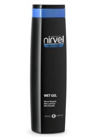 Nirvel Professional Гель для УКладки Волос с Мокрым Эффектом WET LOOK GEL, 250 мл rizos gel гель для вьющихся волос 250 мл