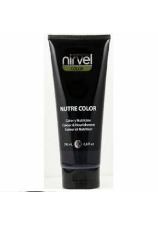 Nirvel Professional Питательная Гель-Маска Цвет Черный NUTRE COLOR BLACK, 200 мл nirvel красящая гель маска 200 мл 27 оттенков purple пурпурная питательная гель маска