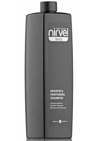 Фото - Nirvel Professional Шампунь для Сухих, Ломких и Поврежденных Волос KERATIN & PANTHENOL, 1000 мл nirvel professional шампунь для сухих и окрашенных волос royal jelly 5000 мл