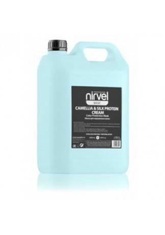 Nirvel Professional Маска-Блеск для Окрашенных Волос CAMELLIA& SILC PROTEIN, 5000 мл artego маска для тонирования дыня color shine mask melon 200 мл