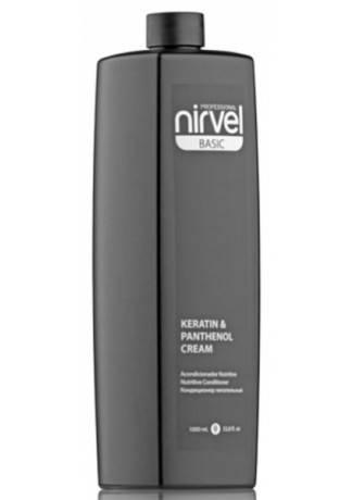 Nirvel Professional Кондиционер для Сухих, Ломких и Поврежденных Волос KERATIN & PANTHENOL, 1000 мл