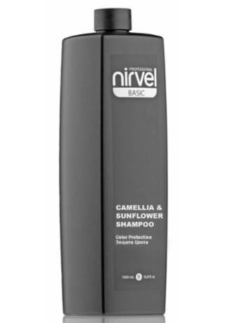 Nirvel Professional Шампунь для Окрашенных Волос CAMELLIA&SUNFLOWER, 1000 мл