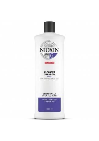 NIOXIN Cleanser System 6 - Очищающий Шампунь (Система 6), 1000 мл power cleanser style remover ежедневный очищающий шампунь 1000 мл american crew для тела и волос