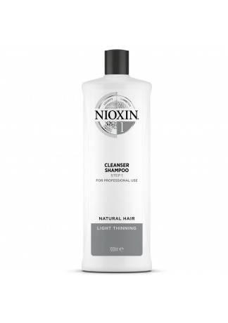 NIOXIN Cleanser System 1 - Очищающий Шампунь (Система 1), 1000 мл power cleanser style remover ежедневный очищающий шампунь 1000 мл american crew для тела и волос