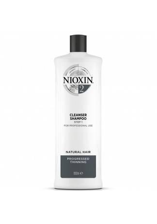 NIOXIN Cleanser System 2 - Очищающий Шампунь (Система 2), 1000 мл