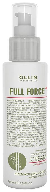 OLLIN PROFESSIONAL FULL FORCE Крем-Кондиционер Против Ломкости с Экстрактом Бамбука, 100 мл