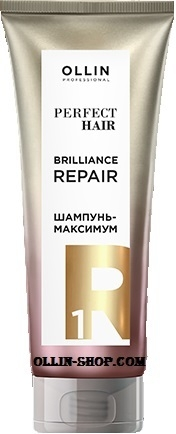 OLLIN PROFESSIONAL Шампунь-Максимум Perfect Hair Brilliance Repair 1 Подготовительный Этап, 250 мл