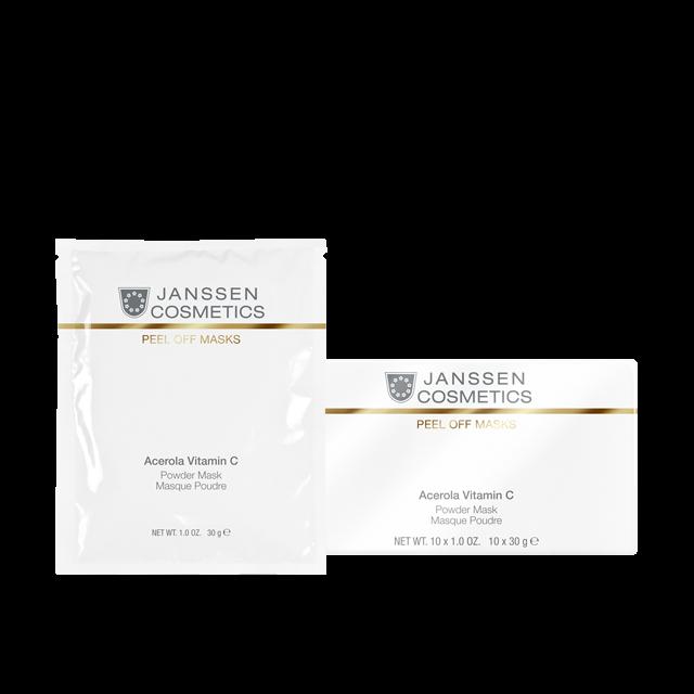 Janssen Acerola Vitamin C Powder Mask Розовая Маска с Ацеролой (Вишней) и Витамином с 10*30гр janssen vitamin c матригель маска для лица с витамином с 5 желтых пластин