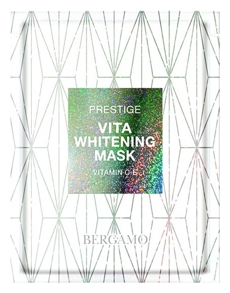 Bergamo Маска Тканевая для Осветления Кожи Prestige Vita Whitening Mask, 28 мл