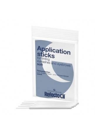 Refectocil Апликаторы для Нанесения Краски, Белые, Мягкие, 10 шт жидкий 3 оксидант для разведения краски 100 мл refectocil refectocil