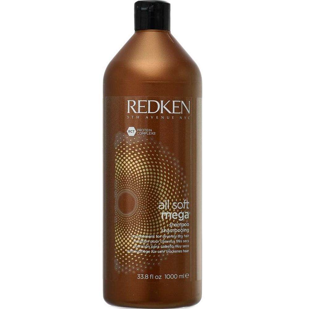 REDKEN Шампунь All Soft Mega Shampoo Олл Софт Мега, 1000 мл redken олл софт смягчающий шампунь 1000мл redken all soft