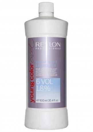 REVLON Биоактиватор Ультра Софт 1,8% Young Color Excel, 900 мл revlon безаммиачная краска для волос тон в тон yce young color excel 70 мл 51 оттенок 4 65 темно красный